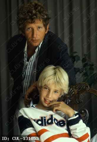 Kern András színművész a fiával 1990-ben